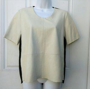 Mason leather Front Shirt